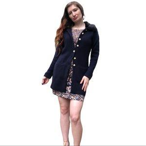 Adrienne Vittadini Wool Blend Pearl Cardigan S NWT